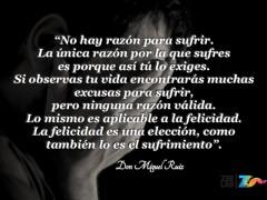 No hay razón para sufrir…