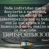 El camino a la transformación…