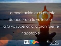 La meditación es…