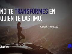 No te transformes…