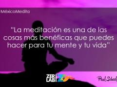 La meditación…