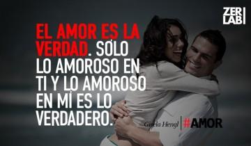 El amor es la verdad…