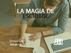 La magia de escribir