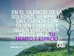 En el silencio de la soledad…